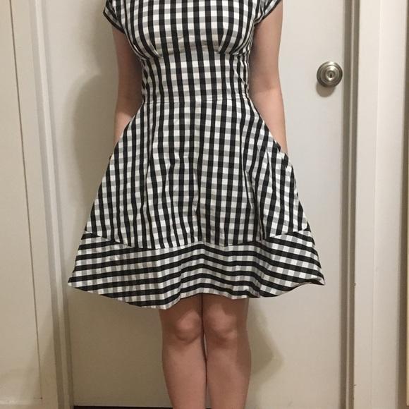 87831cd139f Kate Spade ♤ Fiorella Gingham SZ 2 Dress. NWT